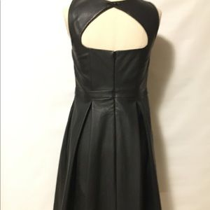 Express Faux Leather Fit and Flare Dress Cut Out 6